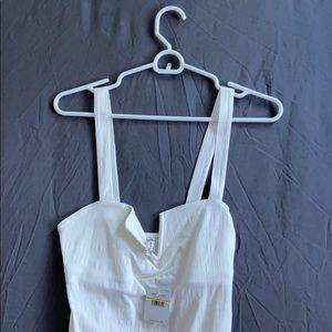 Free People White Bodysuit